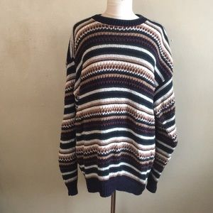 Vintage Striped Holiday Sweater